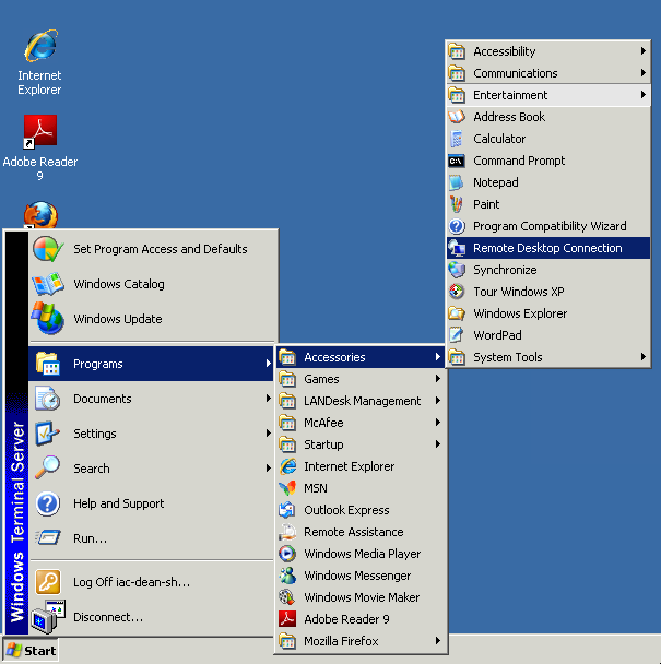 Connecting to IAC Windows Computers from Off-Campus via the