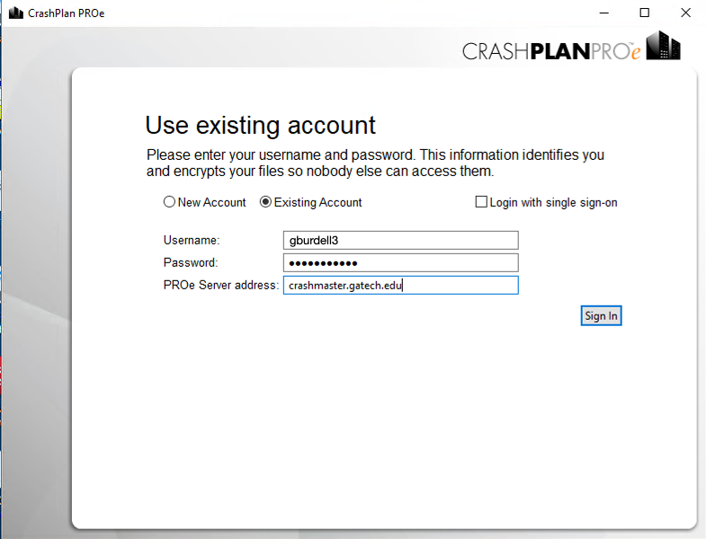 crashplan first run